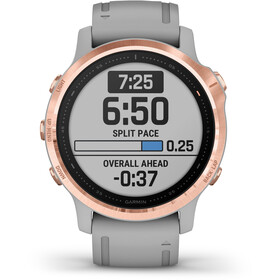 Garmin Fenix 6S Sapphire Multisport GPS Smartwatch, grey/rose gold